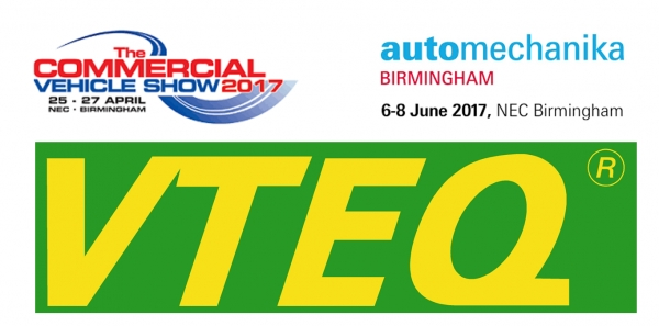 VTEQ AT CV SHOW AND AUTOMECHANIKA BIRMINGHAM